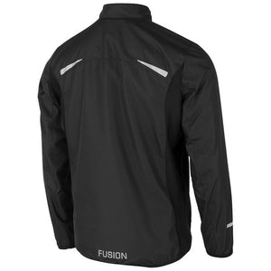 fusion men's s1 performance running jacket black back