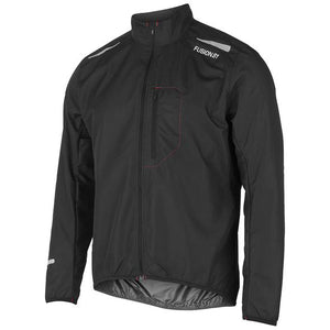 fusion men's s1 performance running jacket black front