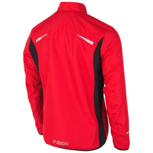 fusion men's s1 performance running jacket red back