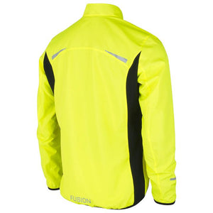 fusion men's s1 performance running jacket yellow back