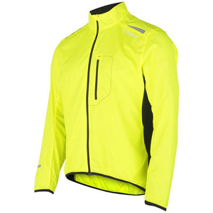 fusion men's s1 performance running jacket yellow front