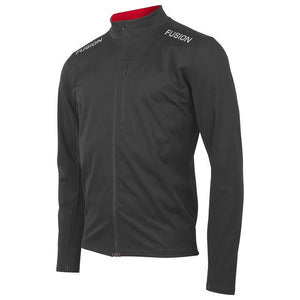 fusion men's s2 performance running jacket black front