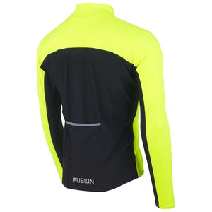 fusion men's s2 performance running jacket yellow back
