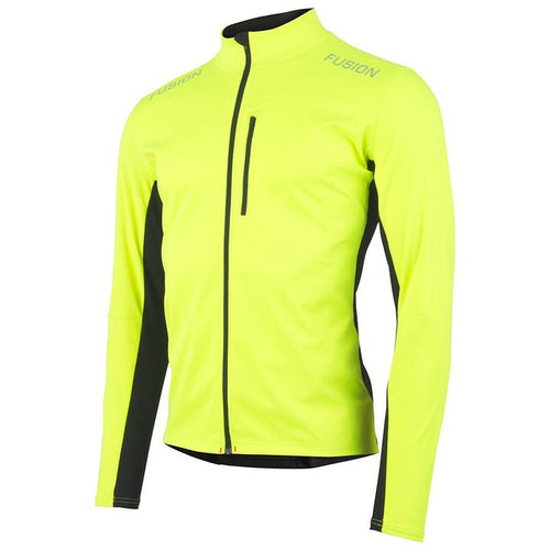 fusion men's s2 performance running jacket yellow front