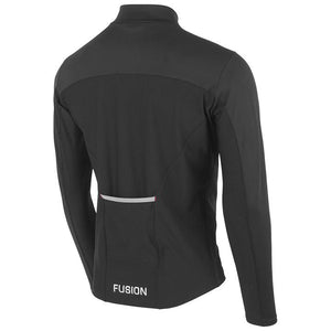 fusion men's s2 performance running jacket black back