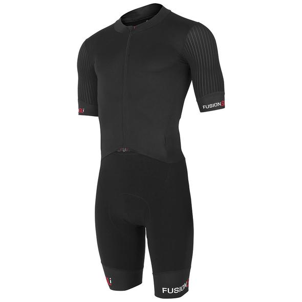 fusion cycling road racing suit unisex front