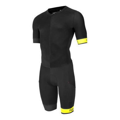 fusion speed suit sublimated band pwr unisex black/yellow front