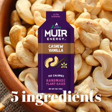 Load image into Gallery viewer, muir energy cashew vanilla gel