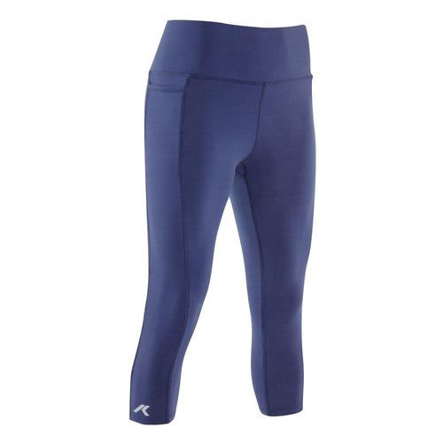 Kippo women's performance leggings with smartphone pocket navy