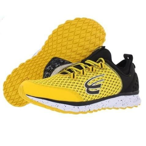 spira phoenix men's running shoe yellow / black / white