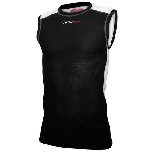 fusion c3 running sleeveless top black