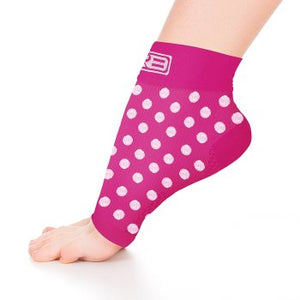 go2 ankle compression sleeve pink with white dots
