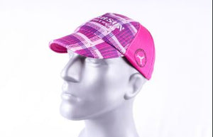 pink plaid carson footwear performance running hat