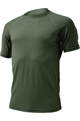 lasting men's quido merino 160 performance running short sleeve men's green