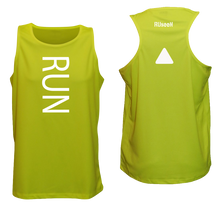 Load image into Gallery viewer, ruseen running mens running tank lime yellow