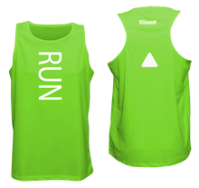 Load image into Gallery viewer, ruseen running unique mens running tank neon green