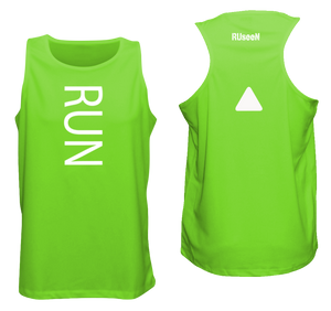 ruseen running unique mens running tank neon green