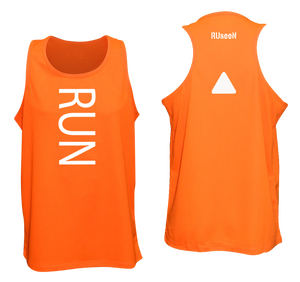 ruseen running unusual mens running tank orange