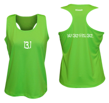 Load image into Gallery viewer, ruseen women's 13.1 half crazy performance tank neon green