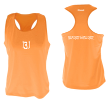 Load image into Gallery viewer, ruseen women's 13.1 half crazy performance tank orange