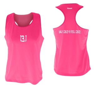 ruseen women's 13.1 half crazy performance tank pink