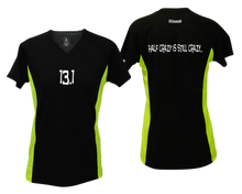 Load image into Gallery viewer, ruseen Women's 13.1 Half Crazy Reflective Performance Tee black & lime