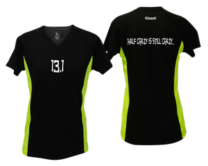 ruseen Women's 13.1 Half Crazy Reflective Performance Tee black & lime