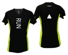 Load image into Gallery viewer, ruseen running Women's performance reflective tee Run black & lime