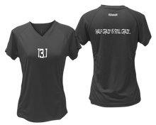 Load image into Gallery viewer, ruseen Women's 13.1 Half Crazy Reflective Performance Tee black