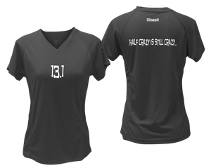ruseen Women's 13.1 Half Crazy Reflective Performance Tee black
