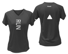 Load image into Gallery viewer, ruseen running Women's performance reflective tee Run black