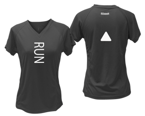 ruseen running Women's performance reflective tee Run black