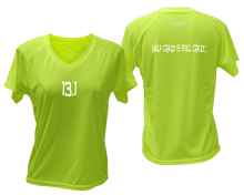 Load image into Gallery viewer, ruseen Women's 13.1 Half Crazy Reflective Performance Tee lime yellow