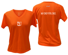 Load image into Gallery viewer, ruseen Women's 13.1 Half Crazy Reflective Performance Tee orange