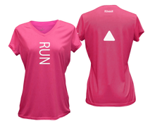 Load image into Gallery viewer, ruseen running Women's performance reflective tee Run pink
