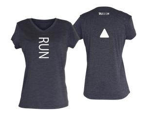 ruseen running women's performance tee purple heather
