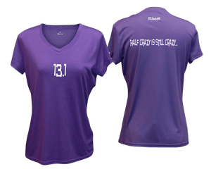 ruseen Women's 13.1 Half Crazy Reflective Performance Tee purple