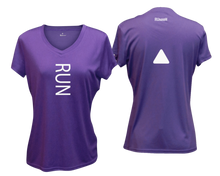 Load image into Gallery viewer, ruseen running Women's performance reflective tee Run purple