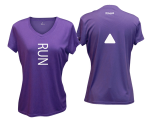 ruseen running Women's performance reflective tee Run purple