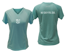 Load image into Gallery viewer, ruseen Women's 13.1 Half Crazy Reflective Performance Tee Sea Green
