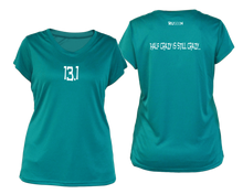 Load image into Gallery viewer, ruseen Women's 13.1 Half Crazy Reflective Performance Tee teal