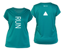 Load image into Gallery viewer, ruseen running Women's performance reflective tee Run teal