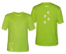 Load image into Gallery viewer, ruseen mens reflective running tee fox lime