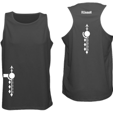 Load image into Gallery viewer, ruseen running mens reflective running singlet black