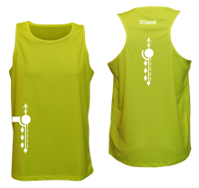 Load image into Gallery viewer, ruseen running men reflective running singlet lime yellow