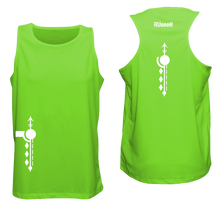 Load image into Gallery viewer, ruseen running mens paths reflective running singlet neon green