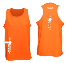 Load image into Gallery viewer, ruseen running mens paths reflective running singlet orange