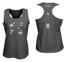 Load image into Gallery viewer, ruseen running arrows women's performance tank black