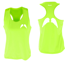 Load image into Gallery viewer, ruseen running Womens wings reflective performance tee lime yellow