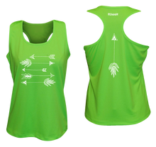 Load image into Gallery viewer, ruseen running arrows women's performance tank neon